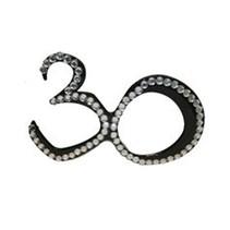 Funbril 30 met steentjes zwart