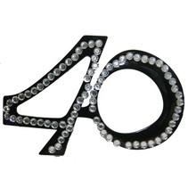 Funbril 40 met steentjes zwart