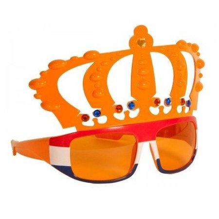 Funbril Kroon Oranje met Rood/Wit/Blauw frame