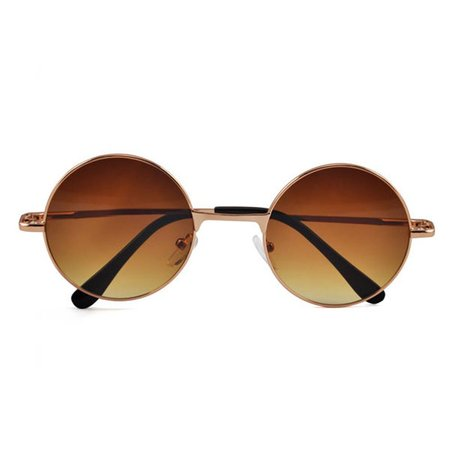 Hippie bril bruin