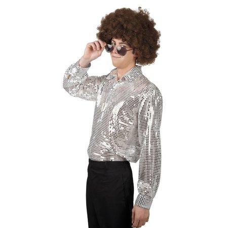 Disco blouse Spangles zilver
