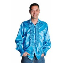 Rouches blouse luxe turquoise