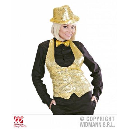 Dames paillettenvest goud