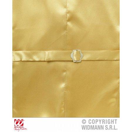Paillettenvest goud man