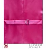 Paillettenvest roze man