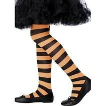 Panty kind oranje/zwart