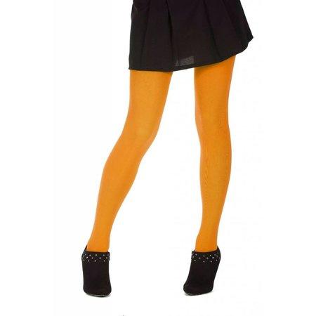 Dames panty neon oranje microfiber