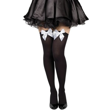 Pantykousen zwart met strik