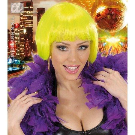 Pruik Valentina neon geel
