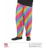 Baggy broek 80's regenboog