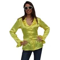Blouse satijn geel