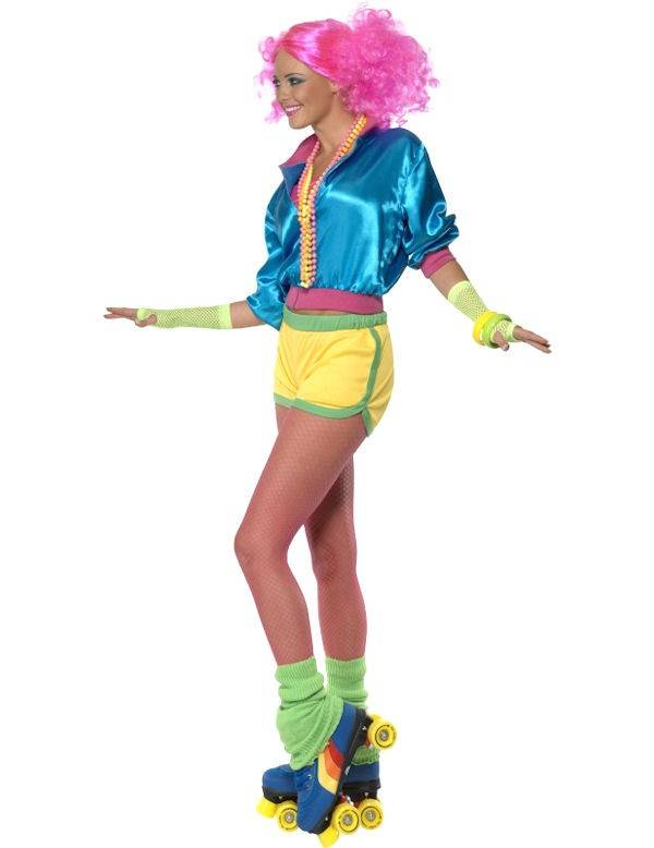 Kostuums Dames.Jaren 80 Skater Kostuum Dames