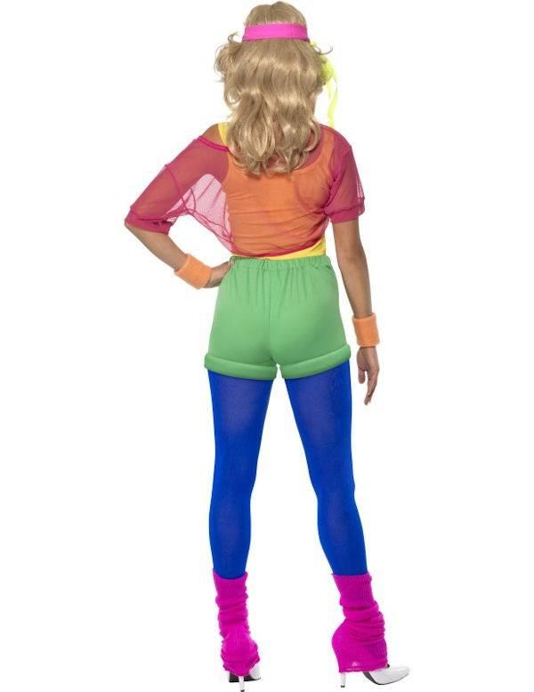 Nieuw Jaren 80 Let's Get Physical Girl Dames Kostuum   Discokleding.com OS-45