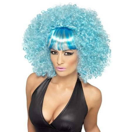 Popstar afropruik blauw