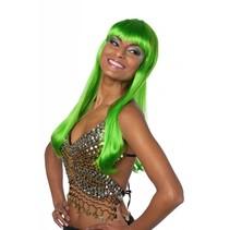 Lange bobline de luxe neon groen