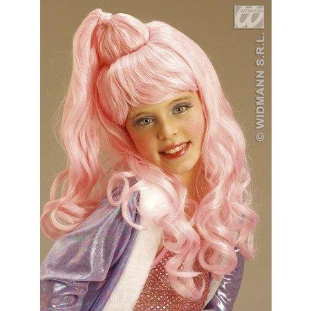 Pruik kind Jazz girl roze