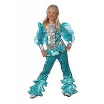 Mama Mia kostuum kind blauw