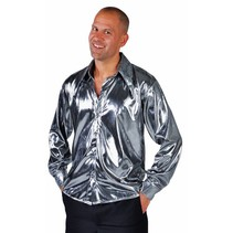 Blouse metallic zilver elite