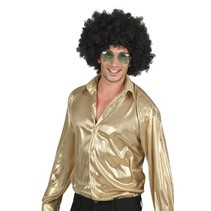 Disco blouse shiny goud