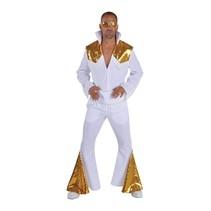 Elvis Las Vegas kostuum Elite wit/goud
