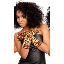 Handschoenen lang tijger