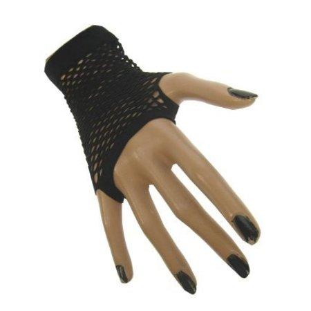 Nethandschoenen kort zwart