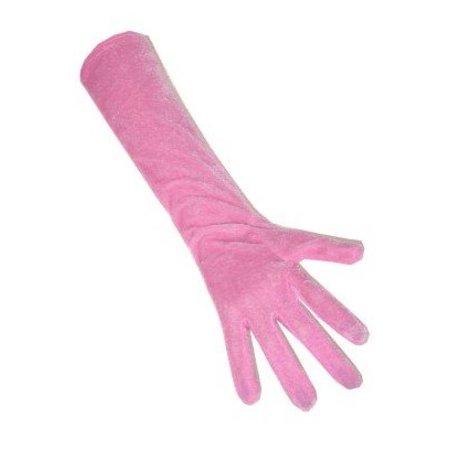 Handschoenen lang roze