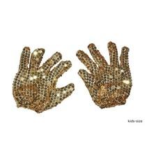 Handschoenen Michael Jackson goud kind