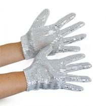Handschoenen Michael Jackson zilver kind