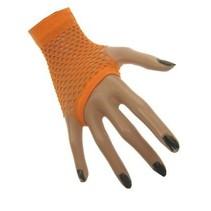 Nethandschoen kort vingerloos fluor oranje