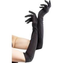 Handschoenen lang zwart 52cm