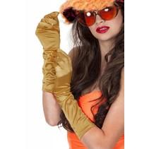Gala handschoenen satijn goud 40 cm