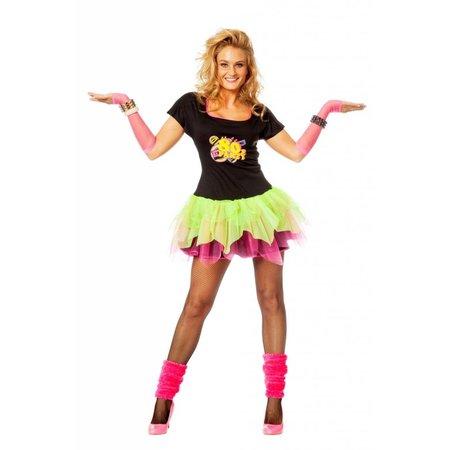Jaren 80 disco jurkje vrouw