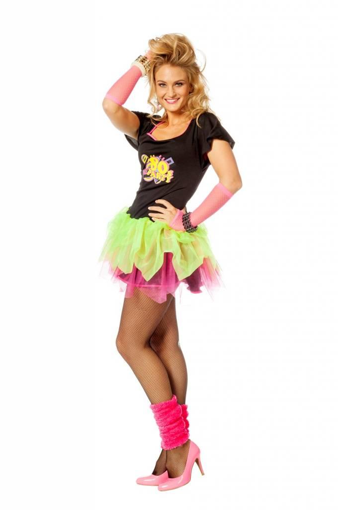 Super Jaren 80 disco jurkje vrouw | Discokleding.com @OP63