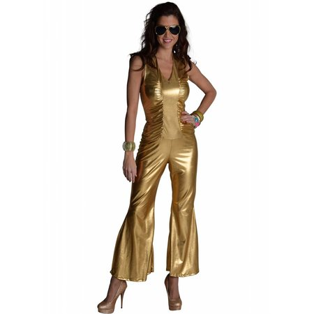 Disco Toppers catsuit goud
