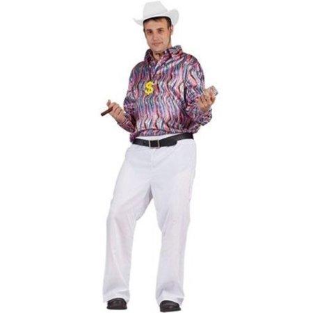 Disco blouse volwassen multikleur