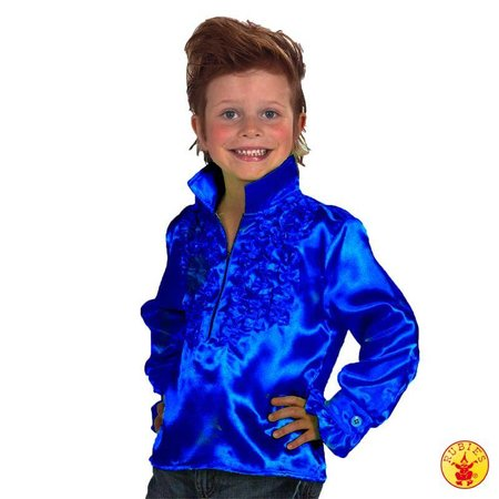 Disco shirt kind blauw