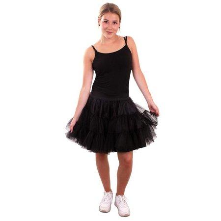 Petticoat zwart 3-laags volwassenen