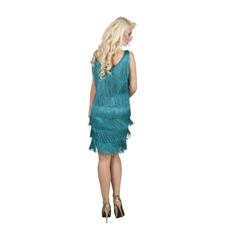 Showgirl kostuum 20's blauw