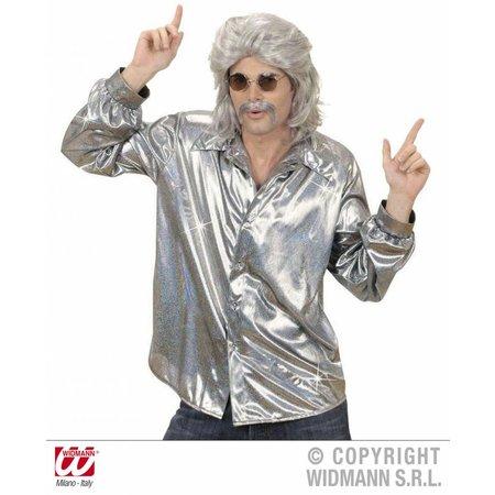 Holografische blouse zilver