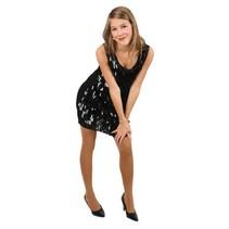Pailletten jurk pijpjes metallic zwart