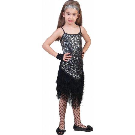 Flapper Disco jurkje zilver