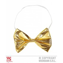 Metallic gouden strikje met wit koordje