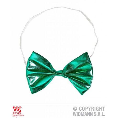 Strikje metallic groen