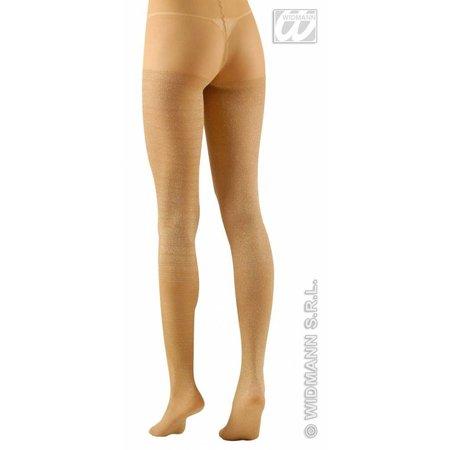 Panty 40den glitter goud