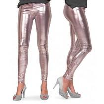 Zilveren legging metallic