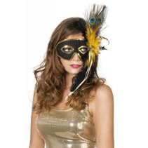 Venetiaanse masker met veren
