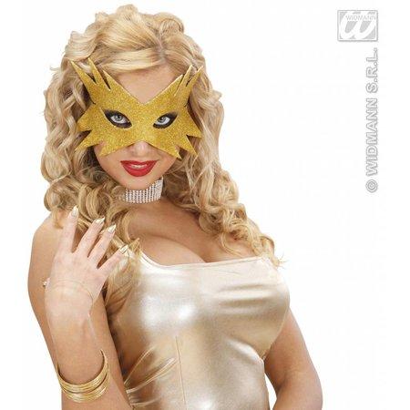Oogmasker ster goud