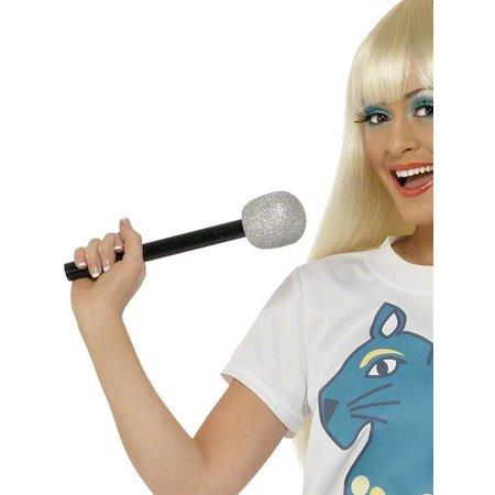 Microfoon zilver glitter