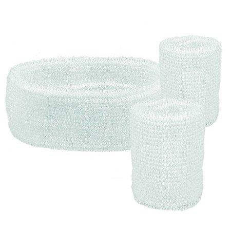 Set 3 zweetbanden wit